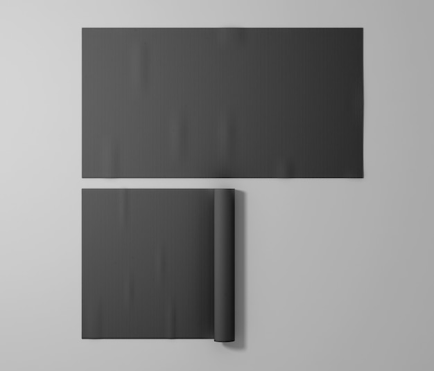 Tapetes esportivos de borracha preta em branco