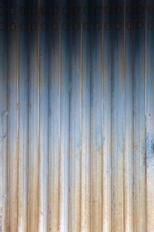 Tapume painéis verticais de metal textura closeup