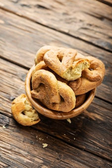 Taralli de pão italiano tradicional