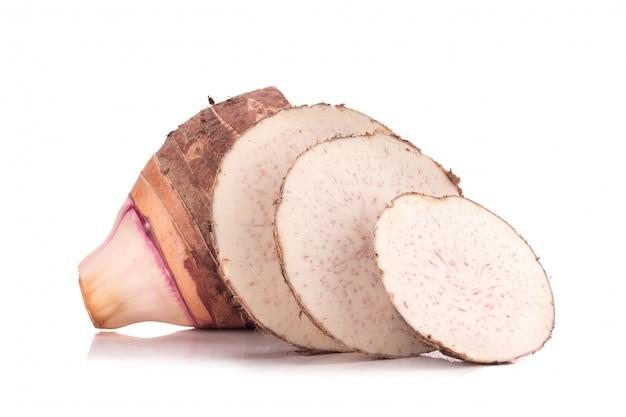 Taro em fundo branco