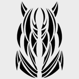 Tatuagem tribal padrão arte de ilustração de design gráfico, estilo de arte abstrata fantasia arte tribal na pele,