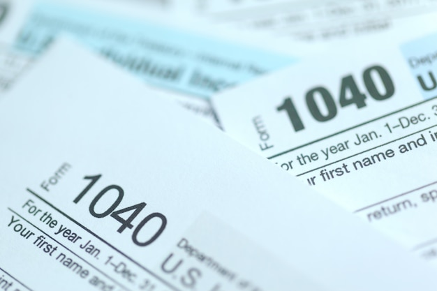 Tax time, concept image,