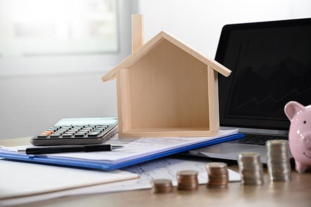 Taxas de hipoteca conceito de dinheiro em empréstimo