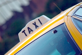 Táxi, close-up