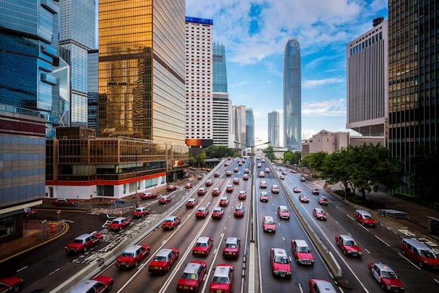 Táxi na cidade de hong kong