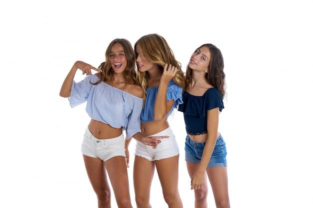 Te adolescente melhores amigas meninas felizes juntos