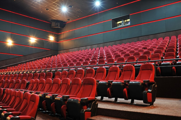 Teatro de cinema vazio