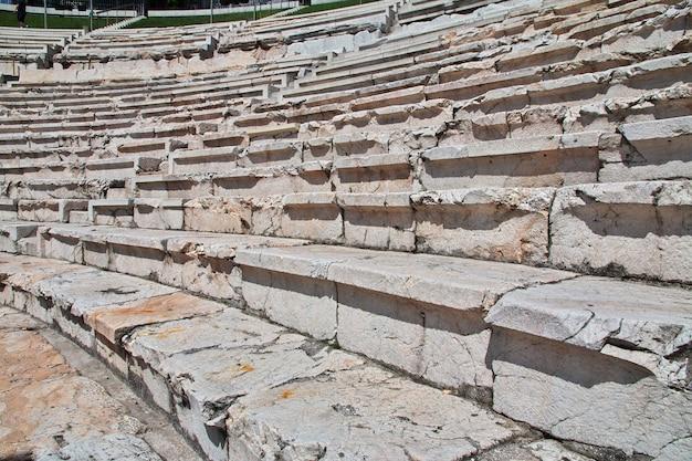 Teatro romano de plovdiv, antigo estádio de philippopolis, bulgária