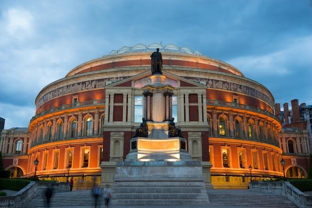 Teatro royal albert hall em londres, inglaterra