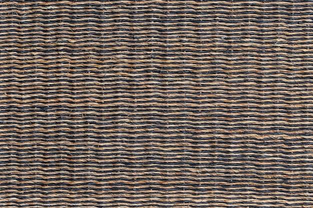 Tecelagem de cestos de madeira texturizada decorativa abstrata. fundo e textura de vime da cesta, close-up