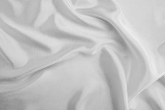Tecido branco textura de fundo abstrato
