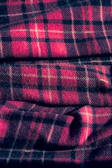 Tecido com padrão xadrez colorido. tecido xadrez rosa. combinação de design de caixa de seleção de tecido de cor cinza branco rosa.