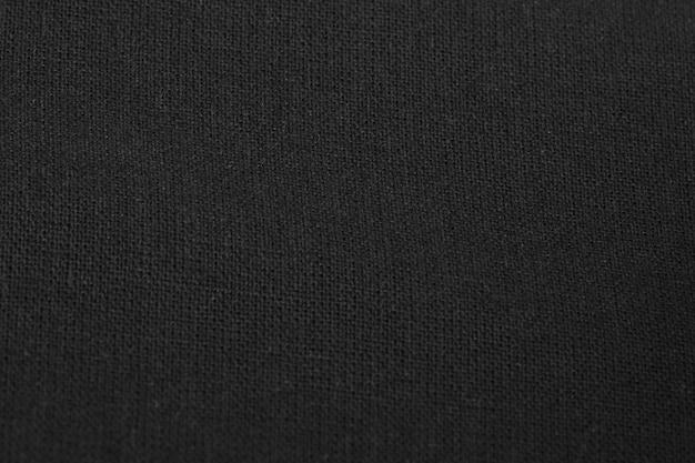 Tecido de algodão preto com textura de fundo