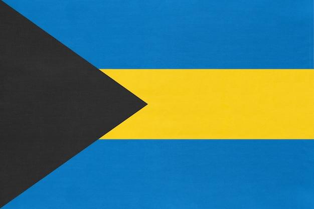 Tecido de bandeira nacional das bahamas