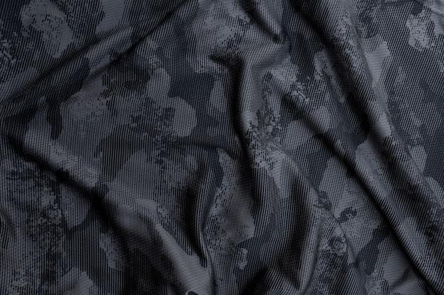 Tecido de camuflagem militar preto