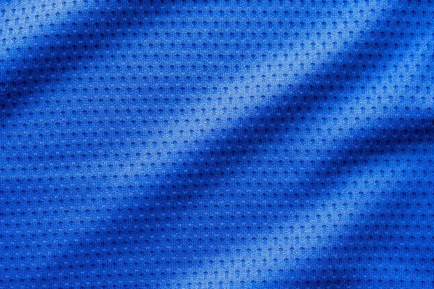 Tecido de cor azul para roupas esportivas, camisa de futebol com fundo de malha de ar
