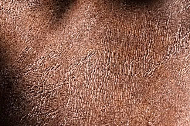 Tecido de couro de qualidade extremamente close-up