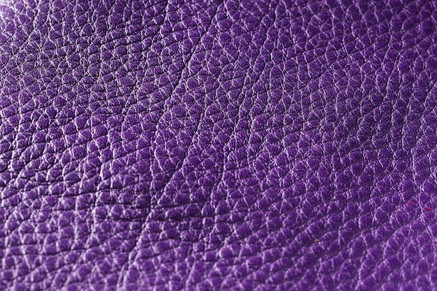 Tecido de couro violeta extremamente close-up