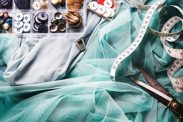 Tecido de fio de costura de fios de algodão de agulha