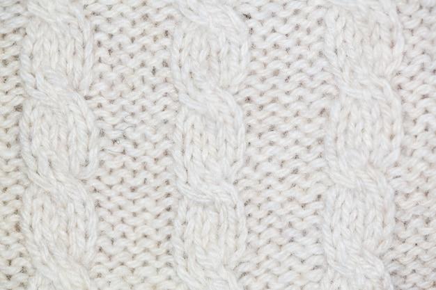 Tecido de lã branca