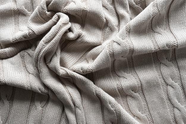 Tecido de malha cinza textura com um padrão