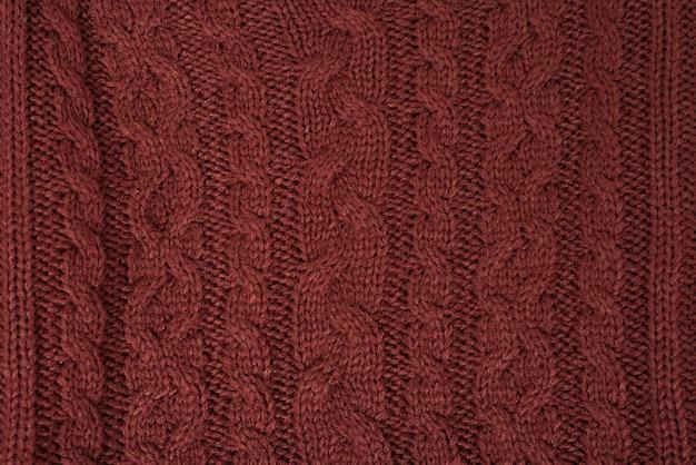 Tecido de malha marrom, pigtail