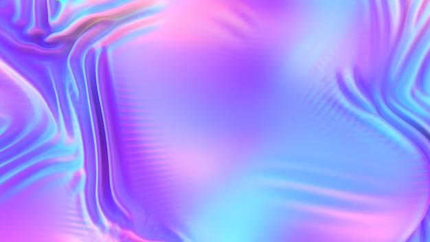 Tecido de pano ondulado de cromo iridescente abstrato de fundo