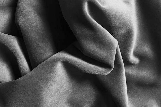 Tecido de seda cinza material para decoração de casa