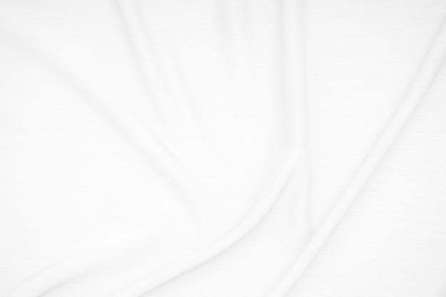 Tecido de tecido branco com textura de ondas macias