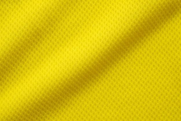 Tecido de tecido de camisa de futebol de cor amarela