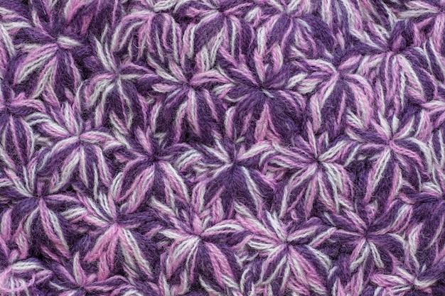 Tecido de textura de malha de fios coloridos.