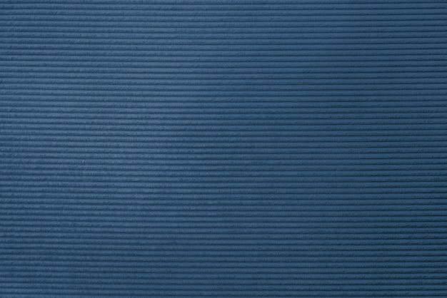 Tecido de veludo cotelê azul texturizado