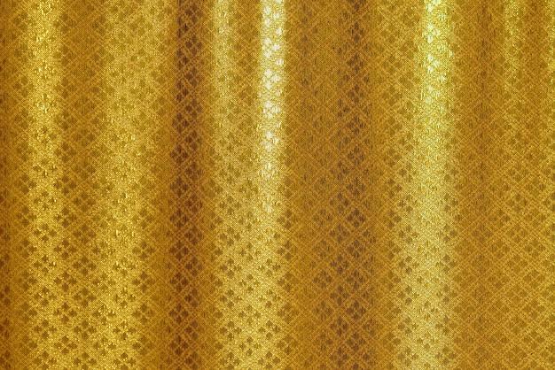 Tecido dourado de luxo tailandês padrão de fundo