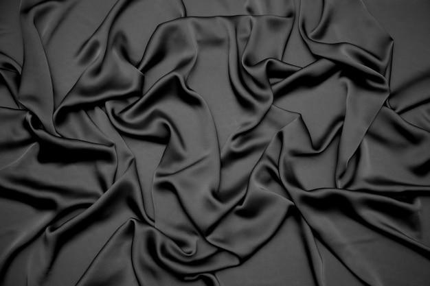 Tecido drapeado preto