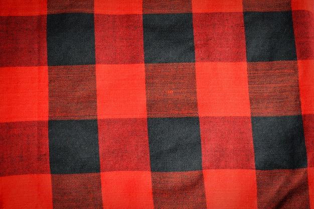Tecido escocês ou tanga padrão vermelho de textura de fundo de tanga
