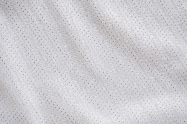 Tecido esportivo branco com textura de malha de ar