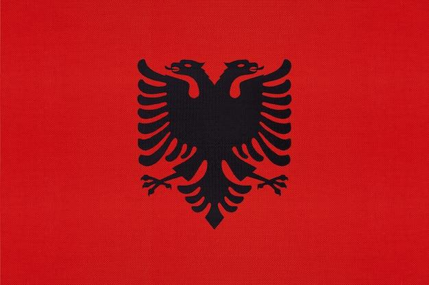 Tecido nacional de bandeira nacional da albânia