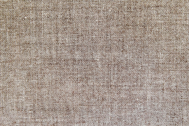 Tecido natural de algodão de linho, textura de fundo eco