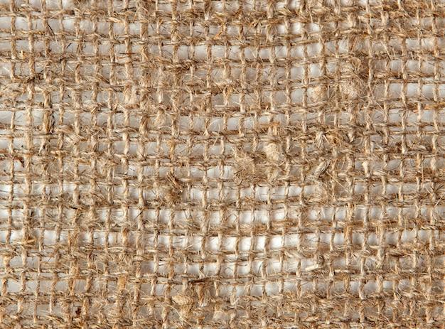 Tecido natural de linho cinza grosso
