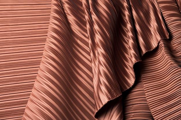 Tecido plissado em cortina longa linha com estilo plissado sombra de padrão têxtil na cor vermelho bordô