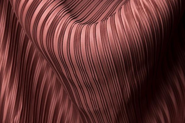 Tecido plissado em tecido de linha longa com sombra