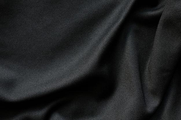 Tecido preto de luxo pano de fundo padrão de textura