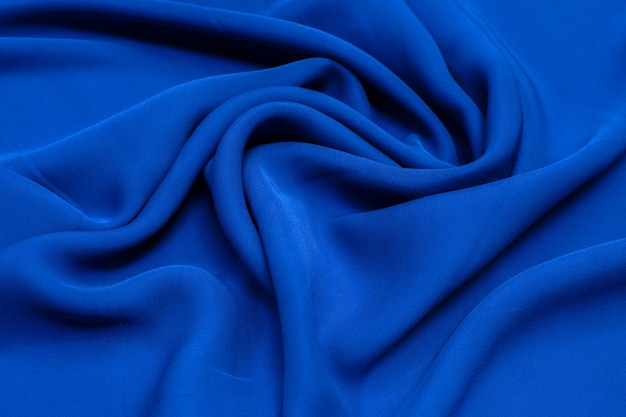 Tecido rayon a cor é azul textura de fundo