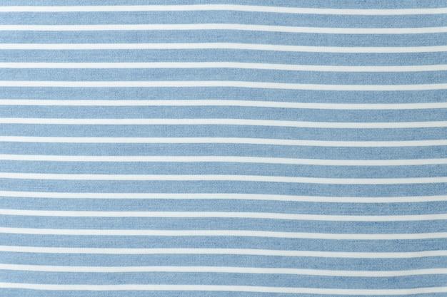 Tecido sem costura listrado azul e branco.
