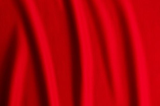 Tecido vermelho, textura de onda de pano