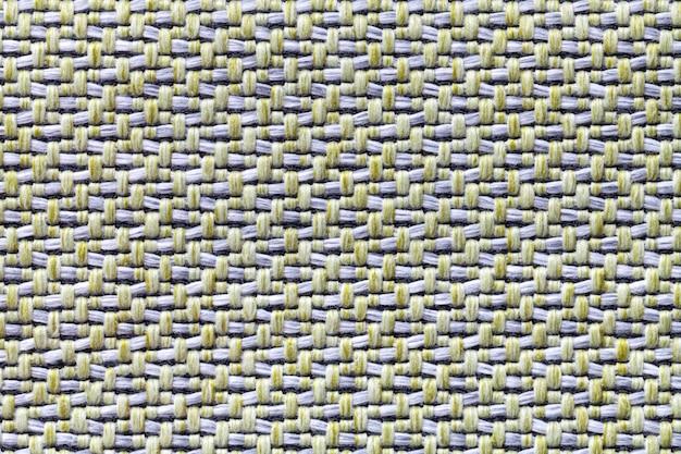 Tecido vintage branco e amarelo com textura de tecido fundo macro de têxteis