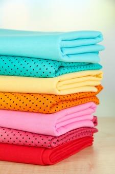 Tecidos de pano close up