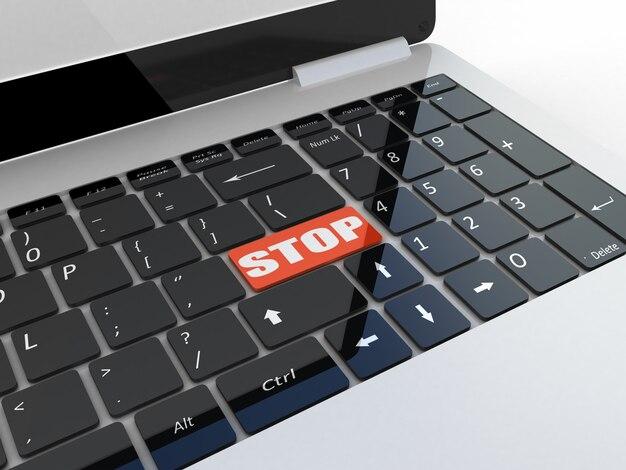 Tecla de parada do teclado