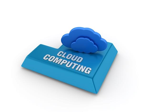 Tecla enter com computação em nuvem