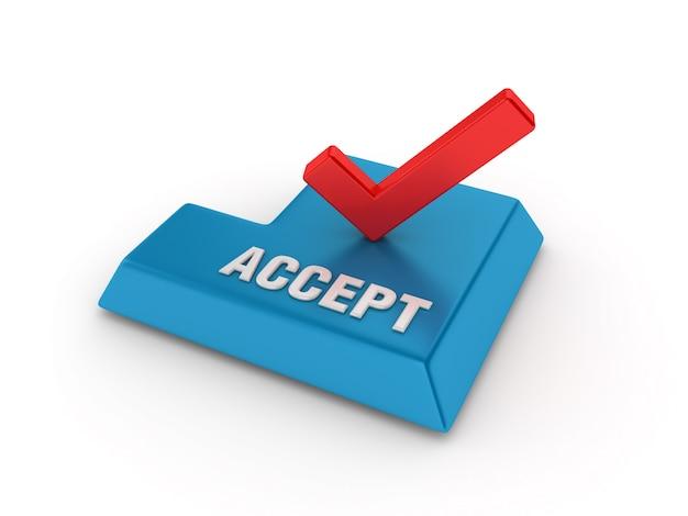 Tecla enter com marca de seleção